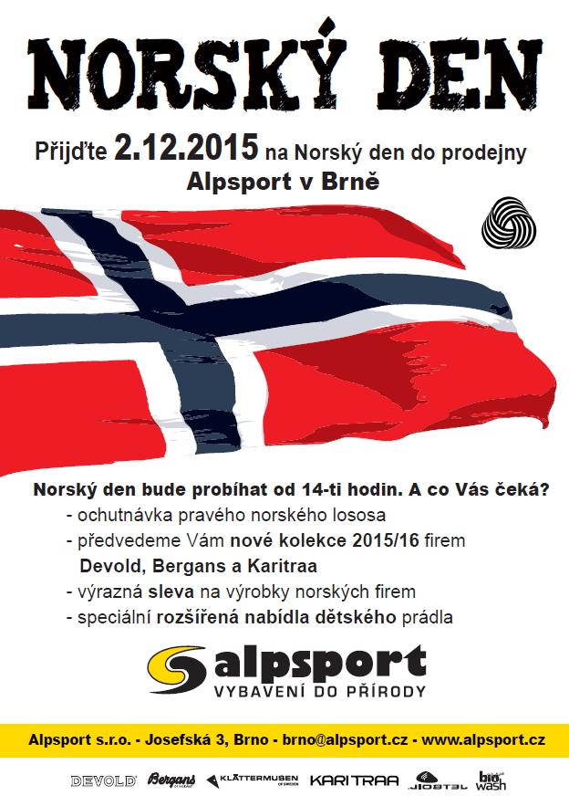 Norský den v prodejně ALPSPORT v Brně