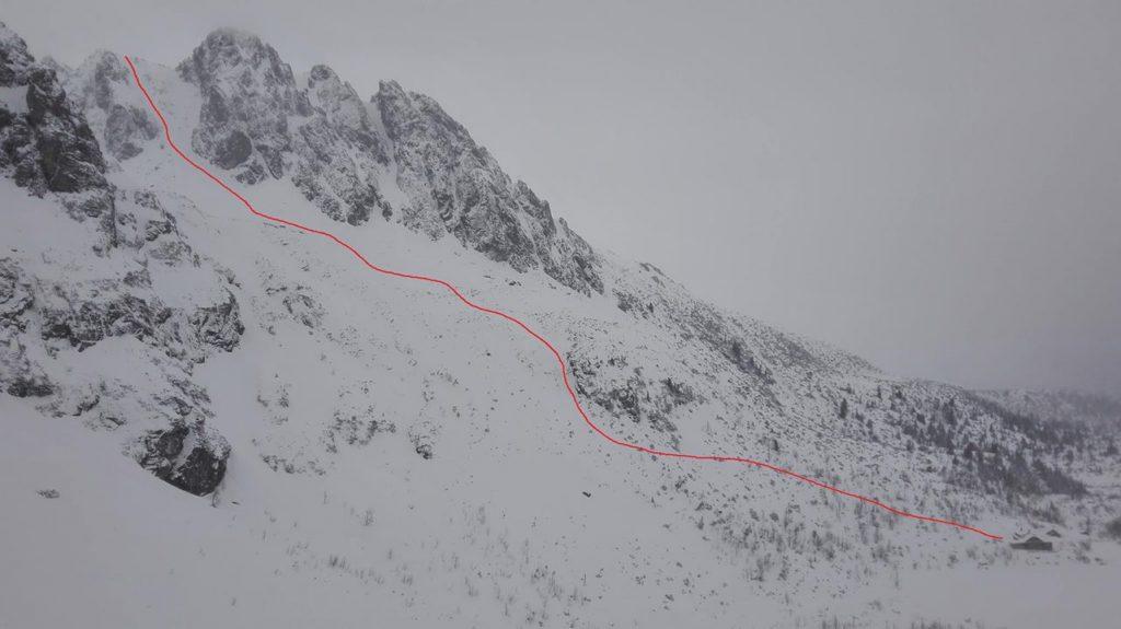 V sobotu po lezení ešte takáto krásne dlhá jazda z Kozej štrbiny na Brnčalku